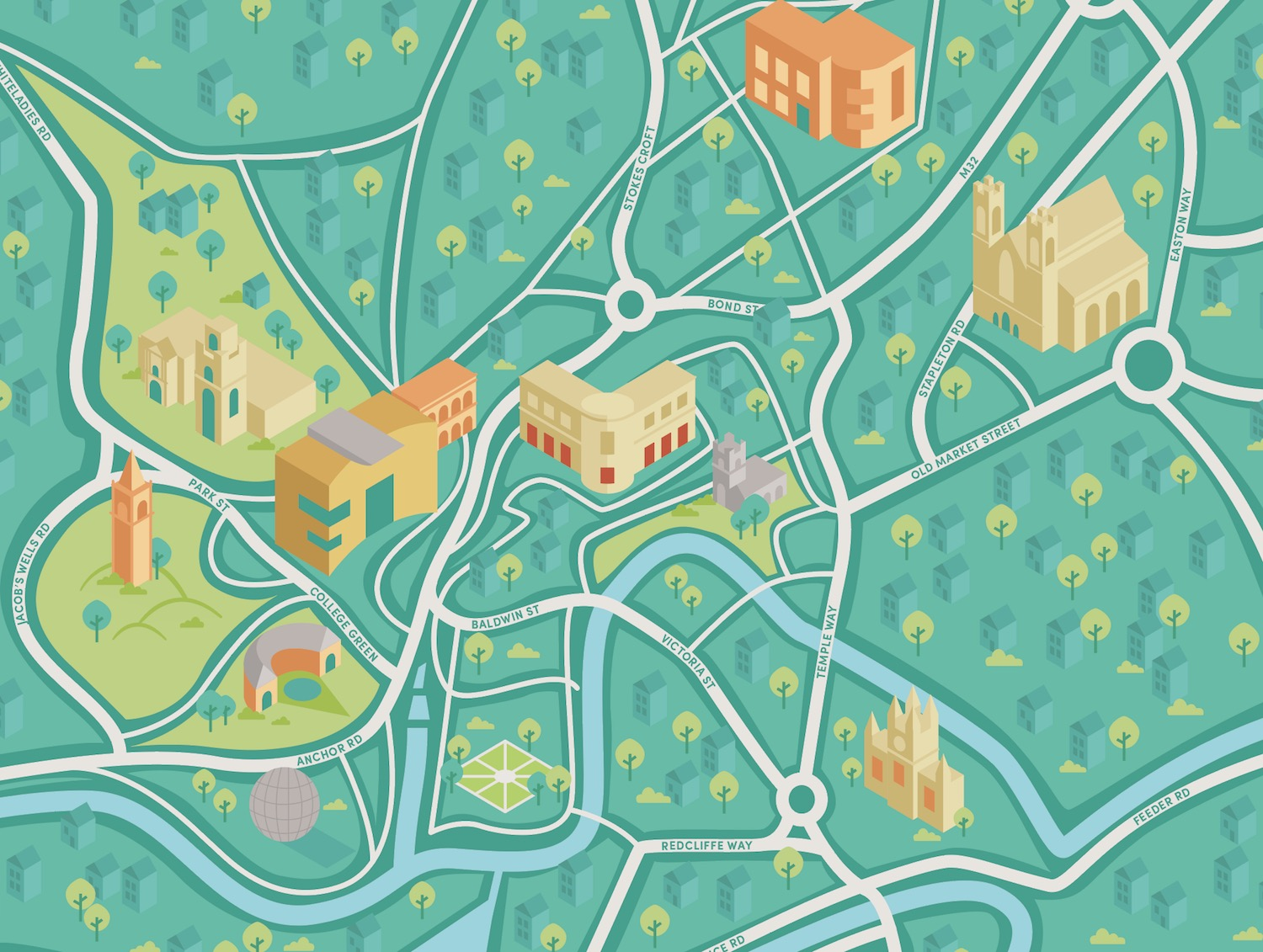 How to create a vector map in Illustrator