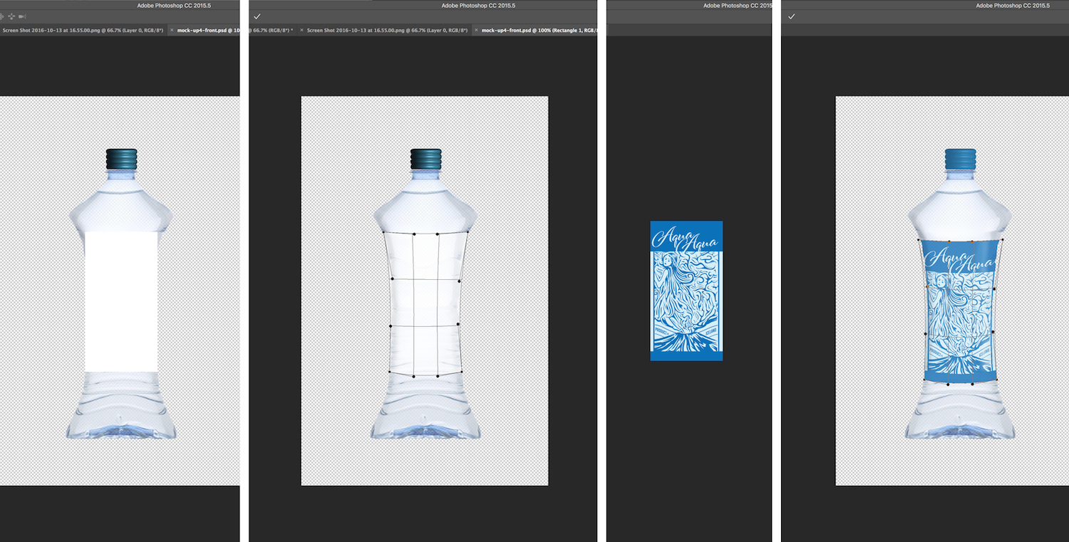 How to create a bottle mockup