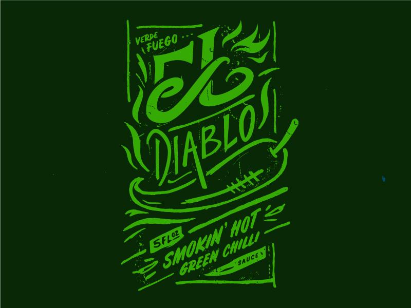 El Diablo Green Chilli Sauce by Joel Rosen