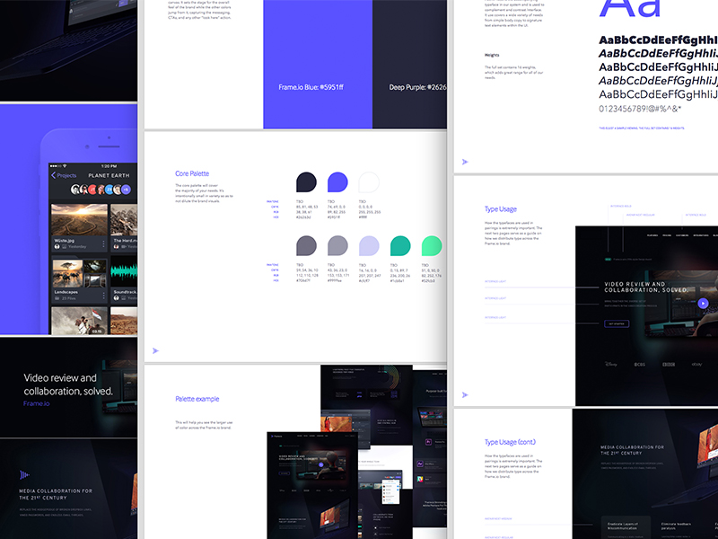 Focus Lab frame style guide Dribbble Image