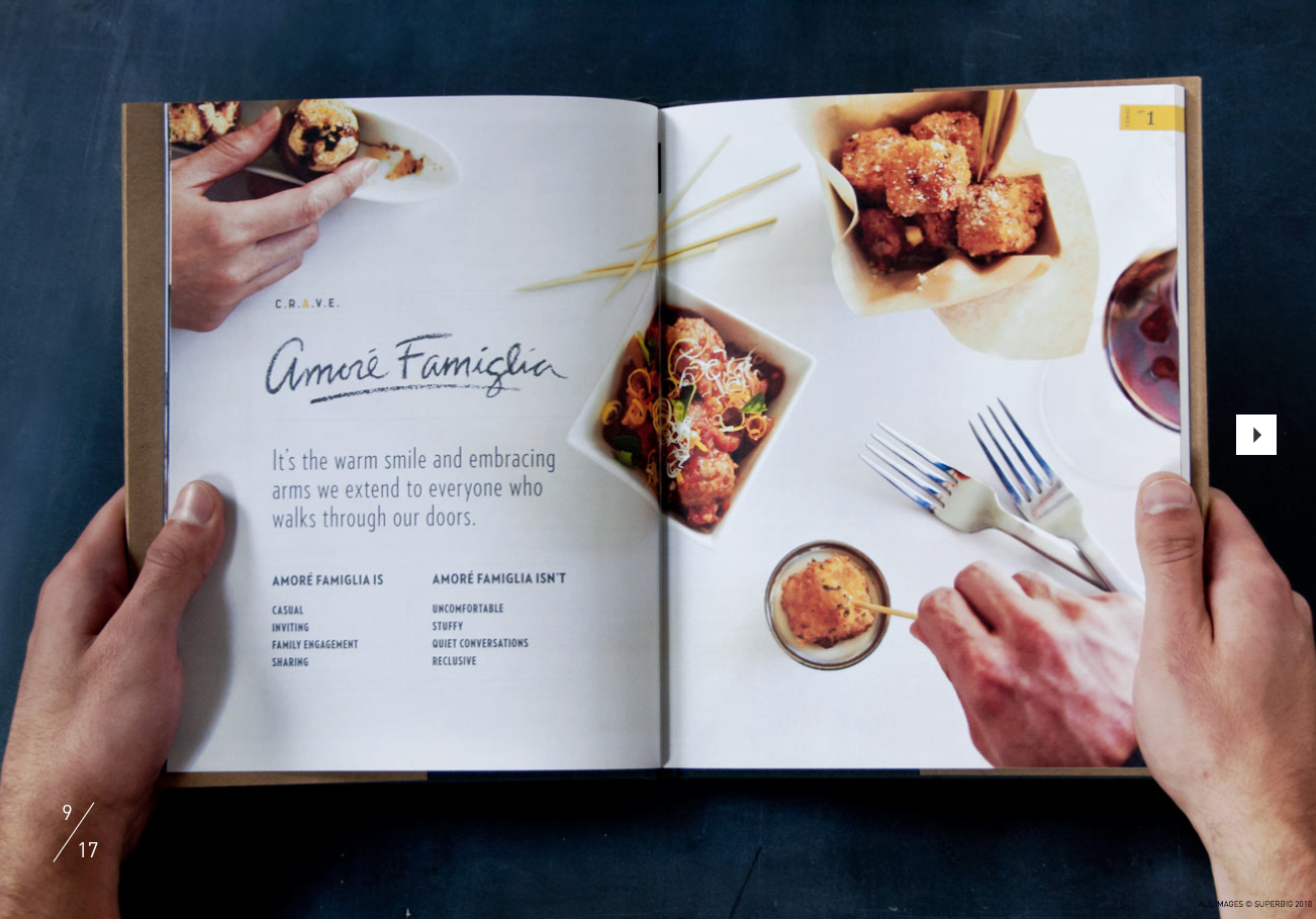 Superbig Creative for Macaroni Grill Brand Guidelines