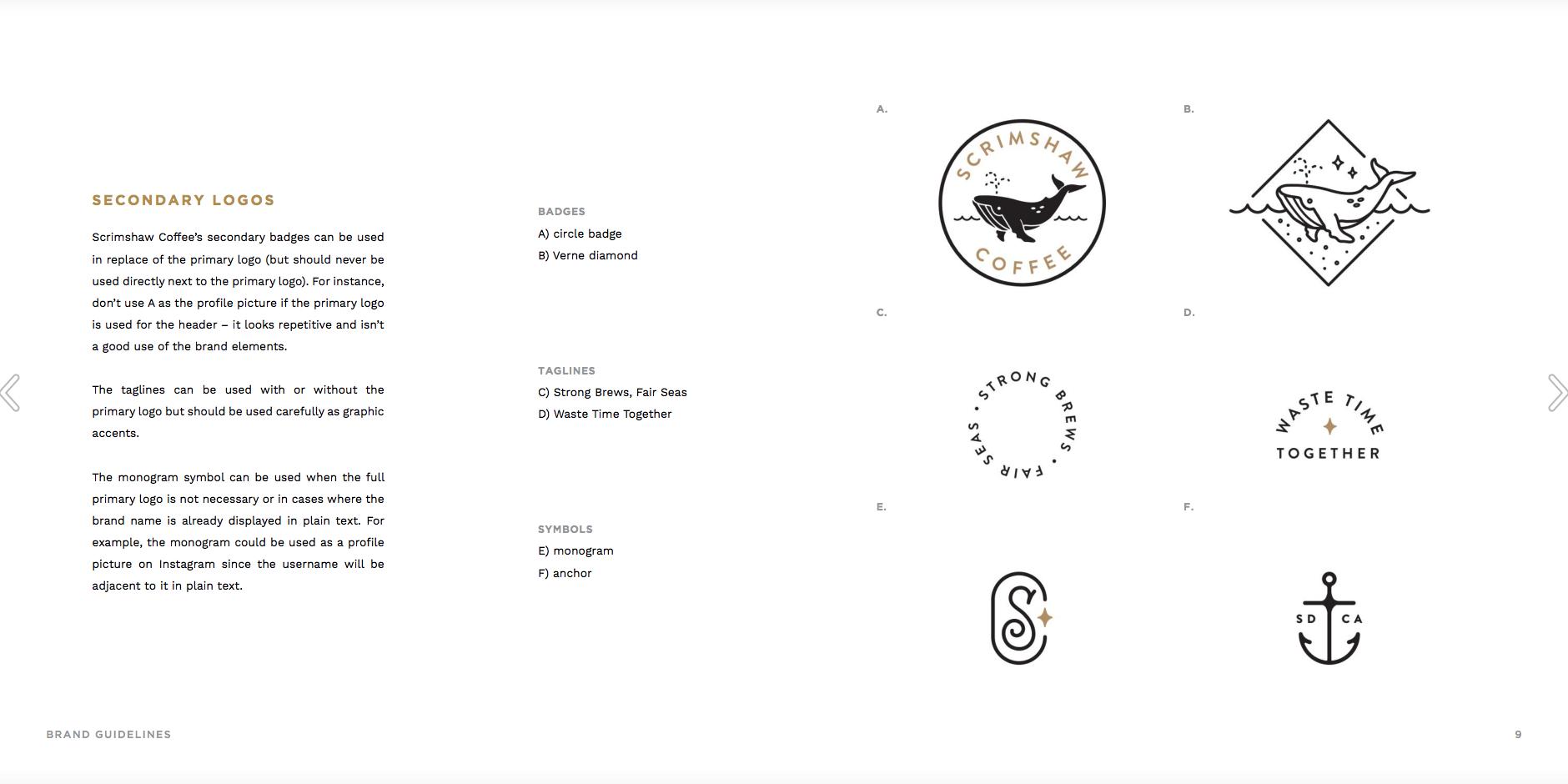 Corinne Alexandra for Scrimshaw Coffee Brand Guidelines
