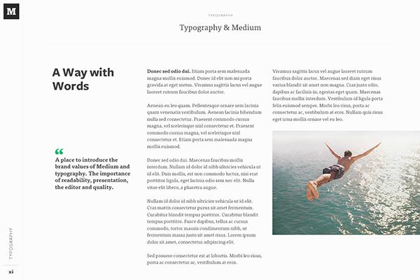 Medium for own brand guidelines