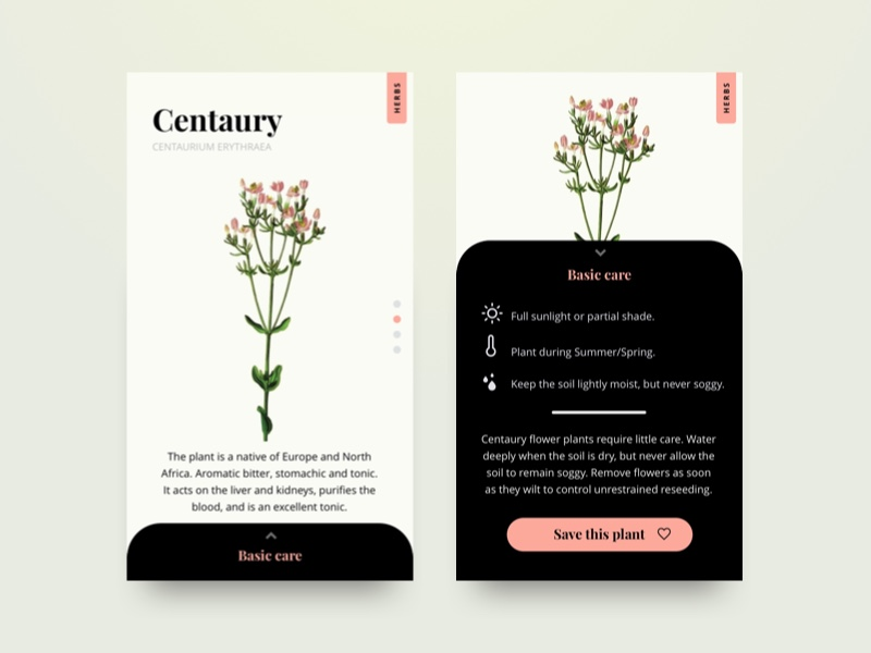 Plant App screens by Lia S
