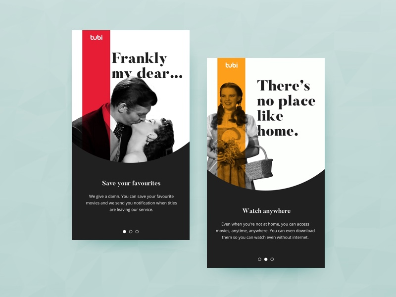Onboarding screens by Lia S