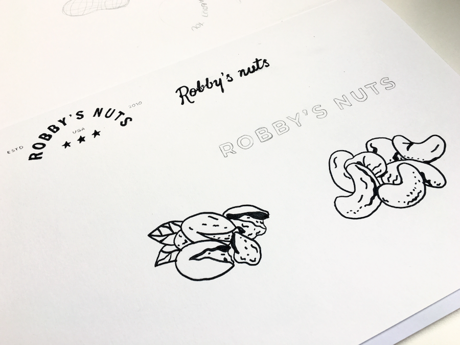 Tab Robbies Nuts Initial Sketches