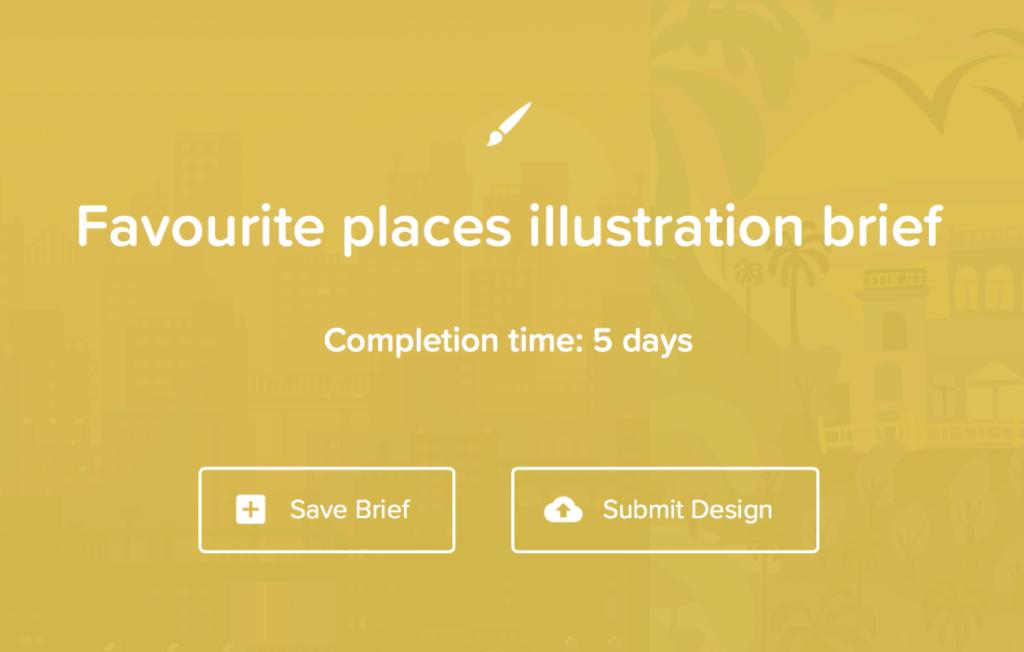 Favourite places illustration brief