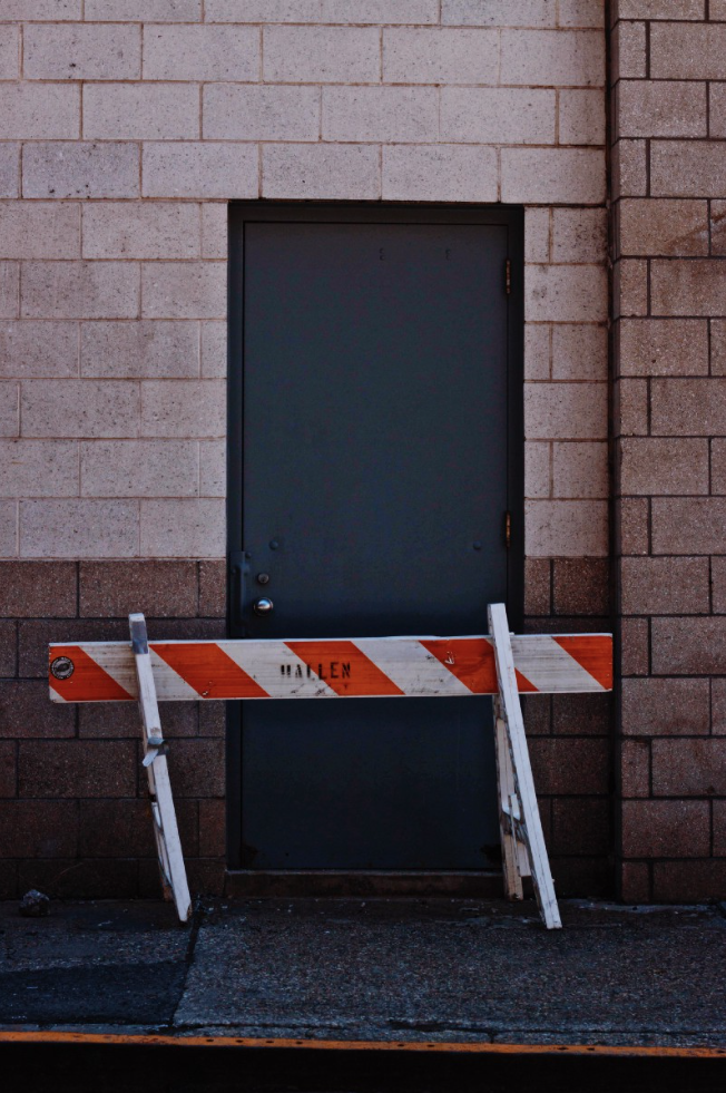 Blocked doorway